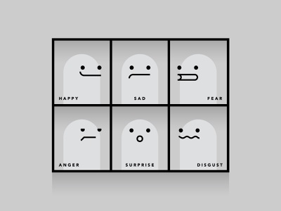 e-motions grid emotions faces illustration