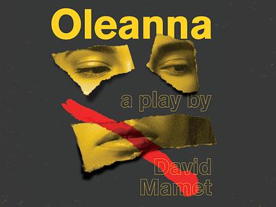 Oleanna oleanna typogaphy play poster design