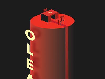 Oleanna - Attempt II poster design play oleanna illustration