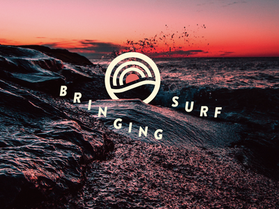 I don't know how to surf... wave ocean surf typography logo graphic design