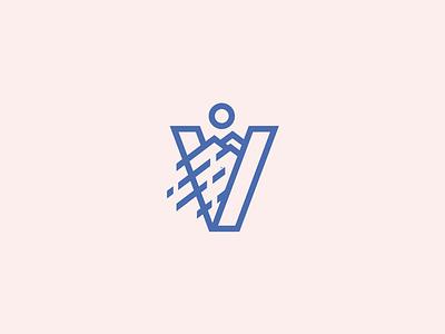 V mountains graphic design logo design logo