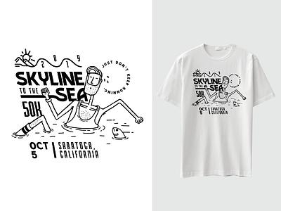 Marathon Tee 50k running marathon tee shirt graphic design design illustration
