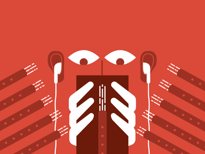 Tuning out the Holidays christmas holidays pipers piping illustration