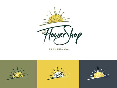 The Flower Shop - Attempt I dispensary cannabis marajuana design graphic design logo logo design
