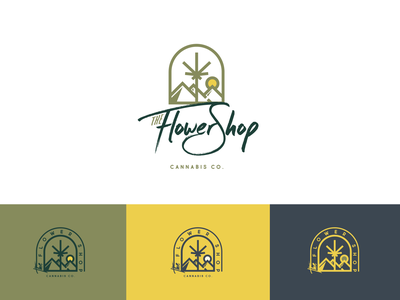 The Flower Shop - Attempt II dispensary cannabis marajuana design graphic design logo logo design