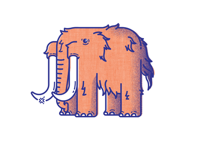 It's Tooth Time - I design mammoth teeth animals illustration