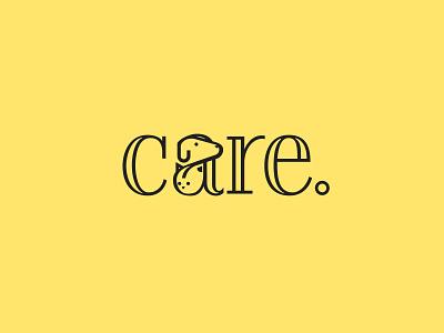 Canine/Cat/Care veterinary animal dog cat branding design graphic design typography logo logo design illustration