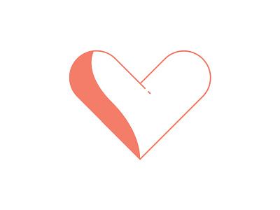 Minimal Love love heart design graphic design logo logo design illustration