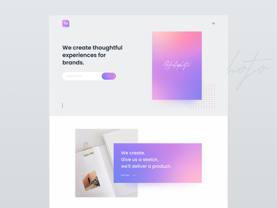 Thoughtful Website web webdesign creative agency marketing landing page home page agency creative agency website website design branding design application clean web design website minimal ui ux