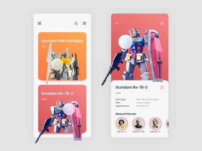 Gundam App UI