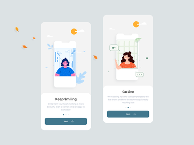 Onboarding Screen colors onboarding ui onboarding screen mobile app illustration android apps app trend 2019 android app clean minimal ios ux ui