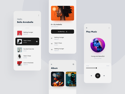 Music player profile artist music app application mobile app mobile trend 2019 clean android app ux ui ios minimal
