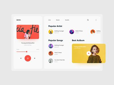 Music for web webapp webapps music music app design typography application web website apps trend 2020 clean ios minimal ux ui