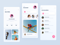 Social app screen