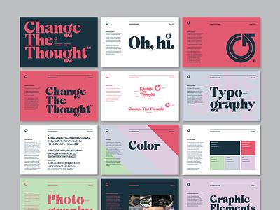 1P 1 CTT BrandGuidelinesMock 01 style guide styleguide brand manual graphic design typography brand design brand identity branding