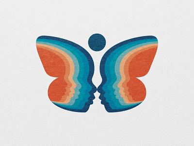 Preschool Logo education rebrand branding brand logos symbol logo symbol typography design graphics adobe illustrator butterfly logo graphic design