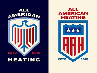 All American Heating Rebrand corporate branding colorado denver adobe illustrator rebrand graphics logo symbol logos design brand illustration logo vector typography branding graphic design