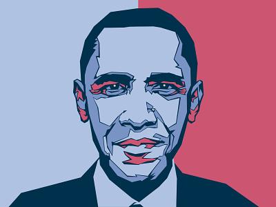 Obama Poster 2008 advertising political design political work obama portrait vector art design logo illustration brand vector typography branding graphic design