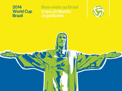 World Cup 2014 Poster football sport sports sports graphics campaign poster design poster art vector portrait rio de janeiro vector art world cup brazil design illustration brand vector logo typography branding graphic design