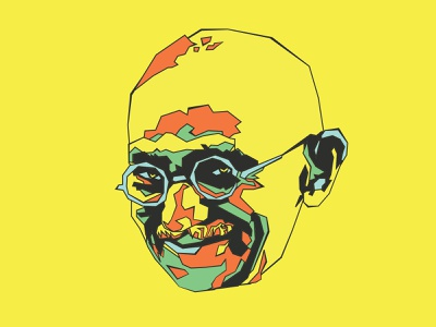 Gandhi tee shirt graphics t-shirt graphics india christopher cox changethethought colorado vector graphics vector art portrait gandhi design logo brand illustration vector typography branding graphic design