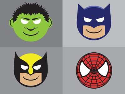 Happy Heroes colorado denver vector art icon illustration logo symbol iconography icons portraits graphic art comic book art comics marvel design brand vector illustration logo typography branding graphic design