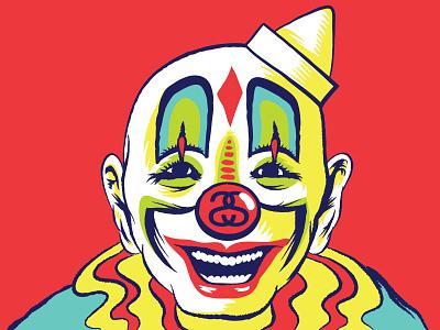 Stüssy Clown branded art vector drawing vector portrait vector design vector art graphic art merch design t-shirt graphics tee shirt graphics stüssy stussy streetwear design brand vector illustration logo typography branding graphic design