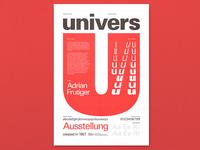 Univers Type Spec Poster