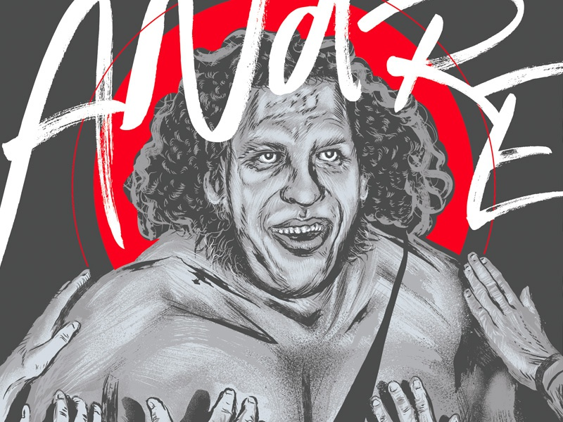 andre the giant poster by changethethought dribbble dribbble