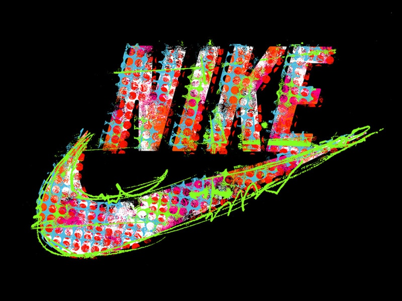 Nike Typography changethethought type graphic design branding tee shirts retail nike typography