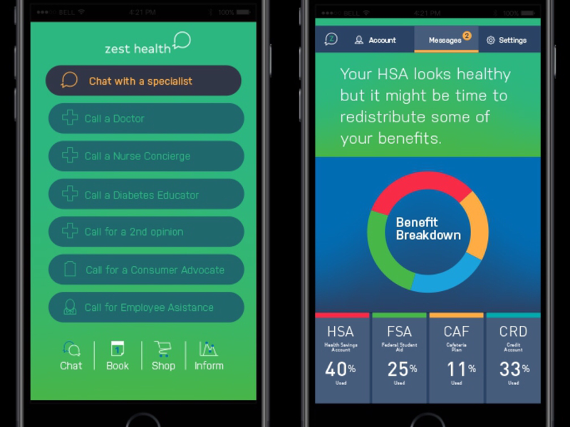 UX/UI Design for Zest Health branding api app mobile typography graphic design ui ux