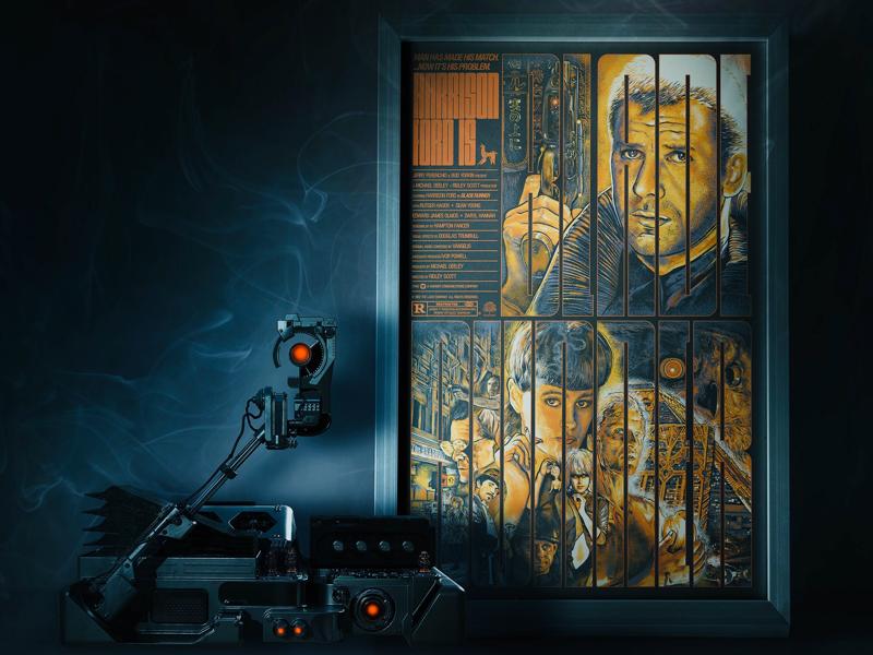Blade Runner Poster drawing illustration design typography graphic design screen print movie poster poster blade runner