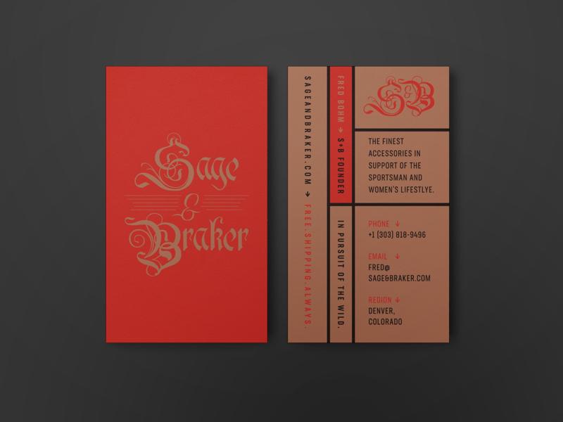 Sage & Braker Branding colorado denver hunting typography identity logo graphic design branding brand
