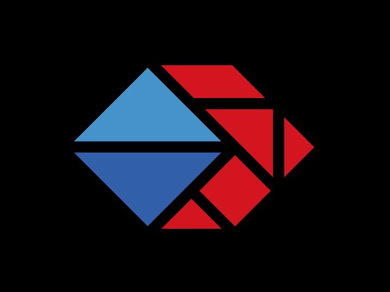 Tangram Flex Logo Symbol portland tangram type brand logos logo branding typography graphic design