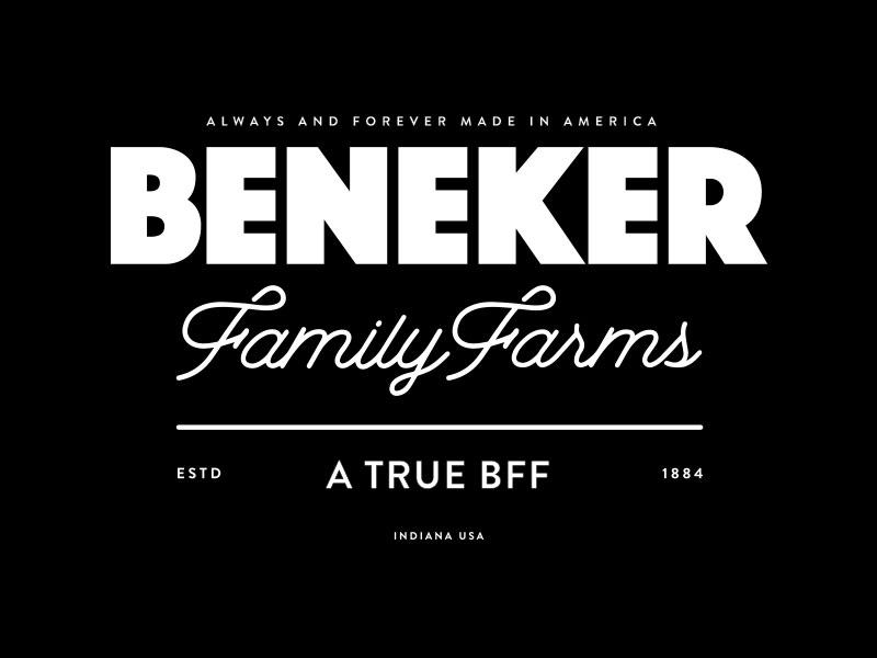 Beneker Family Farms Branding business cards brand design graphic design type typography logos logo branding