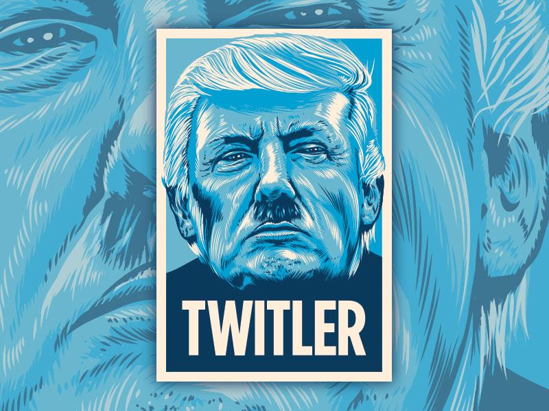 Twitler Protest Poster typography graphic design protest trump illustration vector political art