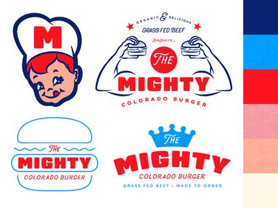 The Mighty Colorado Burger Branding
