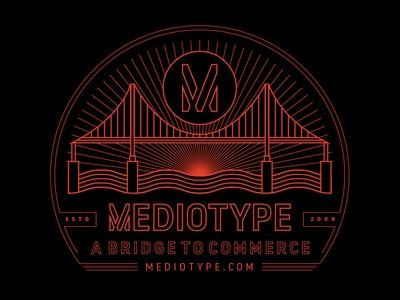Mediotype Branding 2018 icons vector illustration graphics type brand branding typography graphic design t-shirt tee shirt