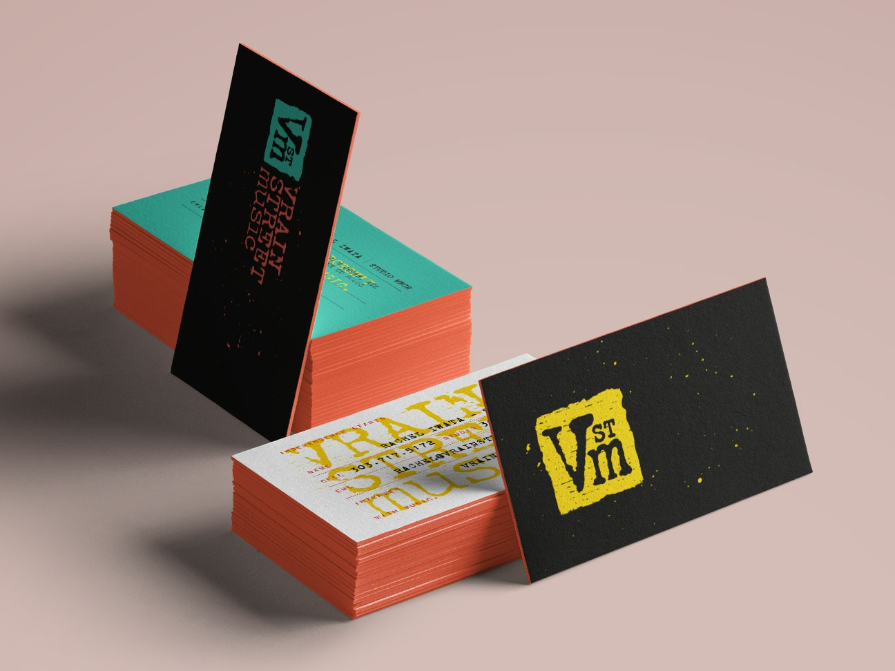 Vrain Street Music Business Cards By Changethethought Dribbble