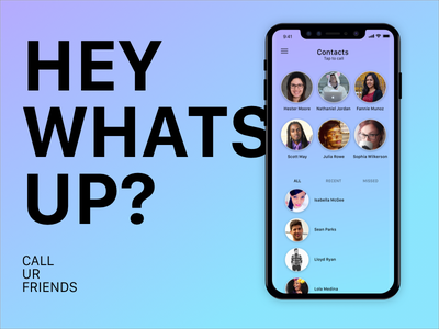 contacts ui social mobile message list ios contacts chat app