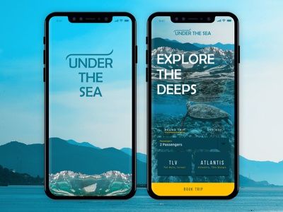 Under The Sea illustration deep sea design ui travel select mobile ios search dive app
