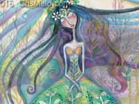 Woman Foliage Dress