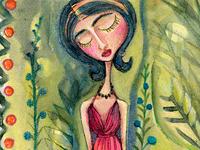 Girl Garden Red Dress