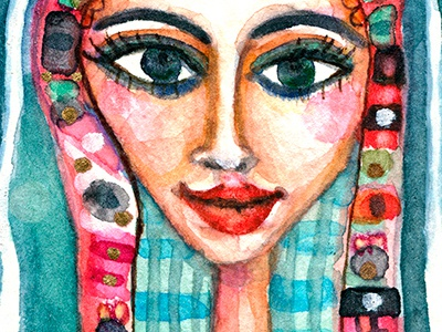 Klimt fan ebay art illustration