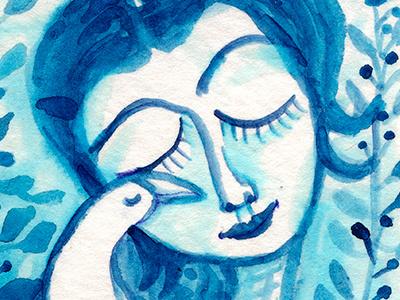 Way To Blue art blue illustration bird