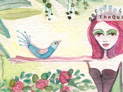 Mermaid n Bird illustration