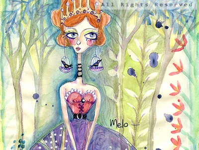 Girl Princess Purple