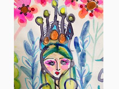 Girl Princess Crown Dressa