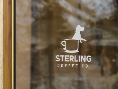 Sterling Coffee Co. — Brand & Identity vintage off white brown creative brand mark logo mark shop brand shop coffee coffee shop cafe store branding logo dog beagle pup