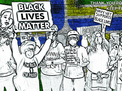 Thank You Portland prints print portland moms black lives matter blm protests protest portland