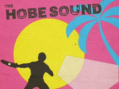 The Hobe Sound Logo bands music new wave miami vice eighties the hobe sound
